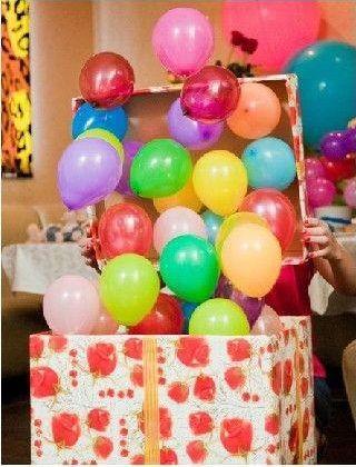 Коробка с шариками сюрприз
