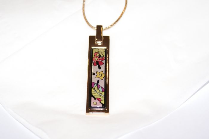 Комплект украшений известного ювелирного бренда frey wille - кулон и кольцо из коллекции claude monet iris